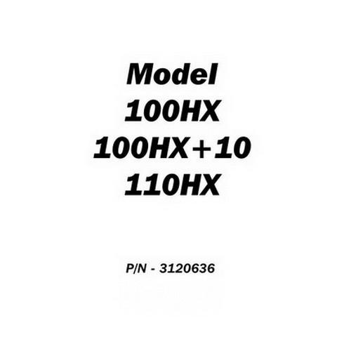 JLG 100HX, 100HX+10 & 110HX Boom Lifts Service and Maintenance Manual (ANSI)