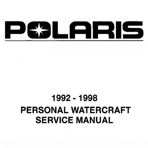 Polaris Personal Watercraft (PWC) Repair Service Manua