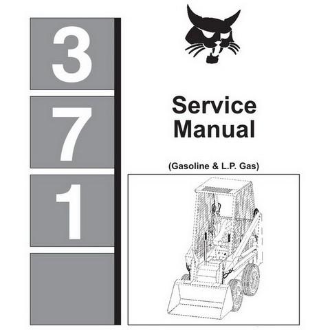 Bobcat 371 Skid-Steer Loader Repair Service Manual - 6545574