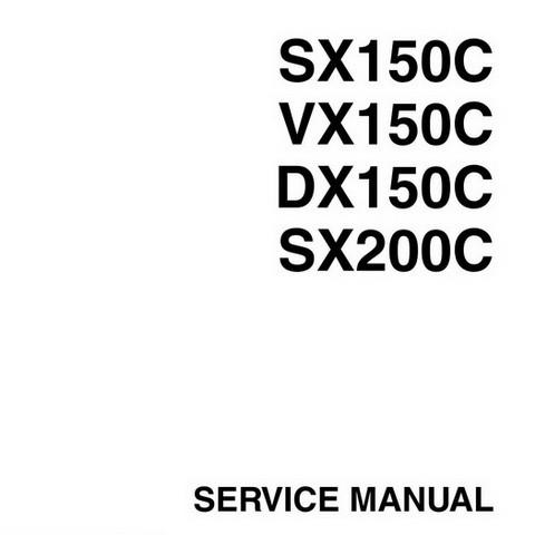 Yamaha Marine SX150C, VX150C, DX150C, SX200C Outboards Repair Service Manual