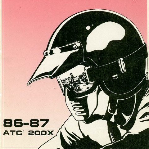 Honda ATC200X Repair Service Manual 1986-1987
