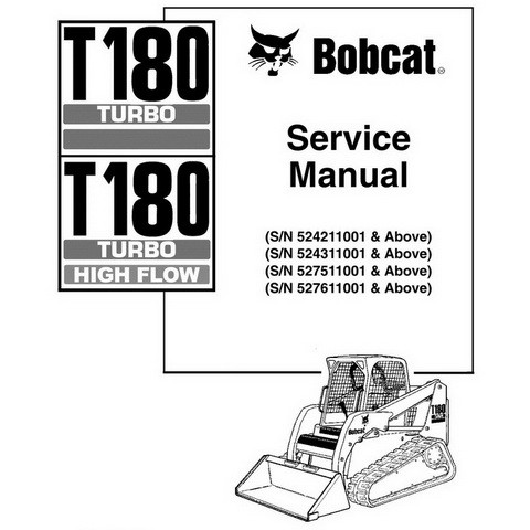 Bobcat T180 Compact Track Loader Repair Service Manual - 6902502
