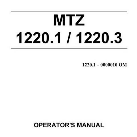 MTZ 1220.1/1220.3/1220.4 Tractors Operator's Manual