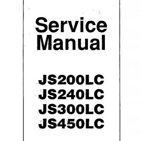 JCB JS200LC, JS240LC, JS300LC, JS450LC Tracked Excavator Repair Service Manual