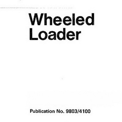 JCB 410, 412, 415, 420, 425, 430 Wheeled Loader Repair Service Manual
