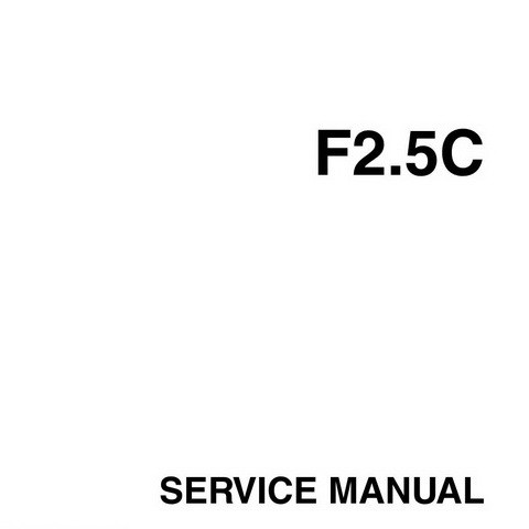 Yamaha Marine F2.5C Outboards Repair Service Manual
