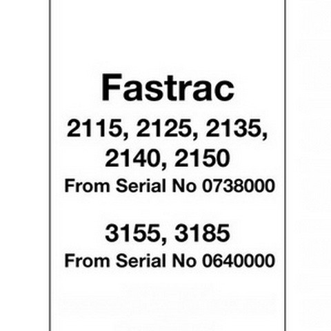 JCB 2115, 2125, 2135, 2140, 2150, 3155, 3185 Fastrac Tractor Repair Service Manual