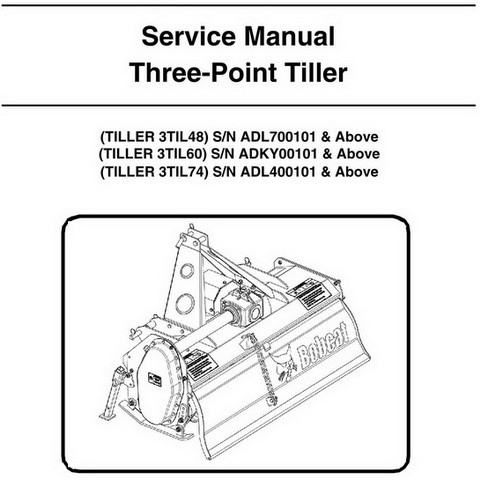 Bobcat Three-Point Tiller Workshop Repair Service Manual - 6987115