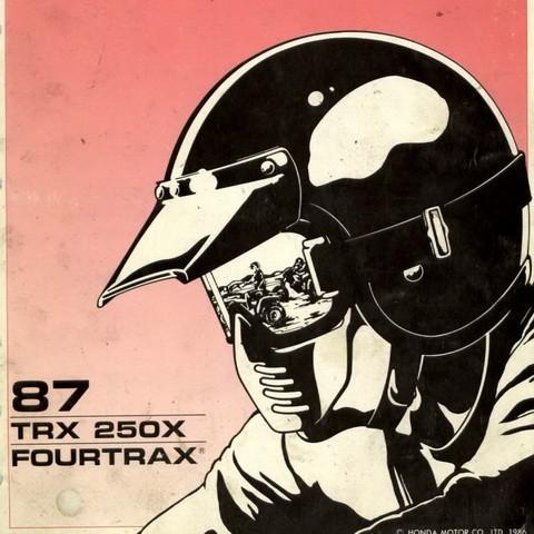 Honda TRX250X Fourtrax Repair Service Manual 1987