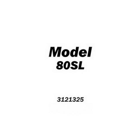JLG 80SL Scissor Lift Service & Maintenance Manual (ANSI)