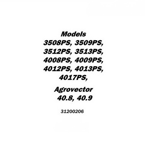 JLG 3508PS - 4017PS, 40.8, 40.9 Telehandlers Service Manual (CE)