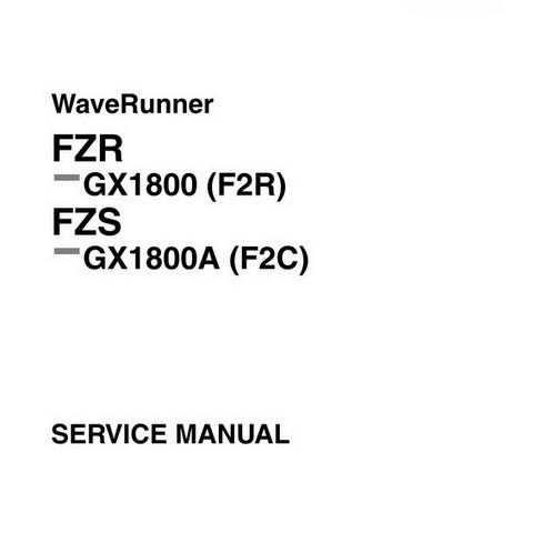 Yamaha WaveRunner FZR & FZS Repair Service Manual