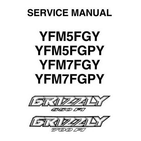 Yamaha GRIZZLY 550 FI/700 FI ATV Repair Service Manual