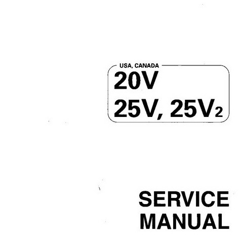 Yamaha Marine 20V, 25V, 25V2 Outboards Repair Service Manual
