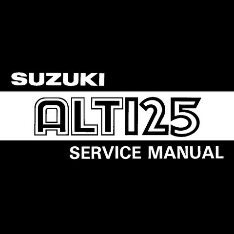 Suzuki ALT125 Repair Service Manual 1983-1986