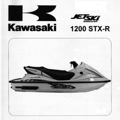 Kawasaki 1200 STX-R/JT1200-Ax Jet Ski Watercraft Repair Service Manual 2002-2003