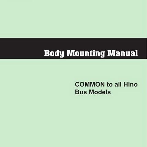 HINO Bus Models Body Mounting Manual
