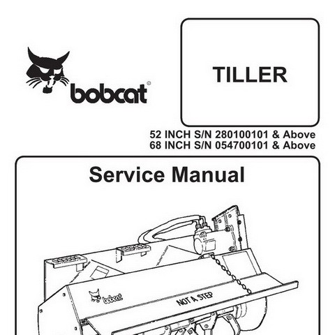 Bobcat 52 & 68 Inch Tiller Workshop Repair Service Manual - 6900893