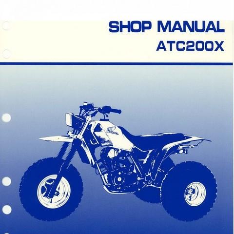 Honda ATC200X Repair Service Shop Manual 1983-1985