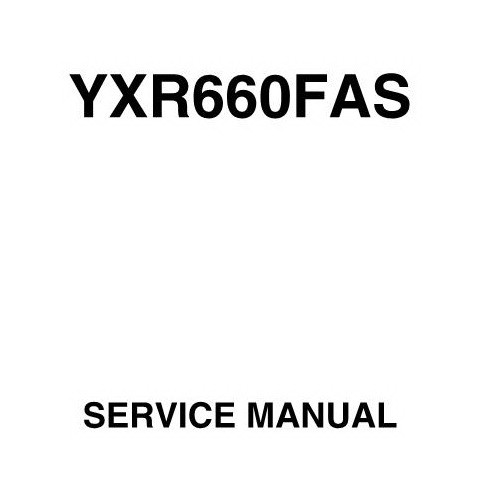 Yamaha ATV Rhino 4WD / YXR660FAS Repair Service Manual