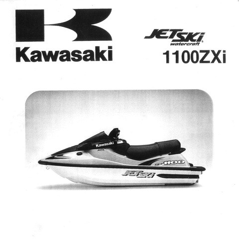 Kawasaki 1100ZXi (JH1100-Ax) Jet Ski Watercraft Repair Service Manual 1996-2002