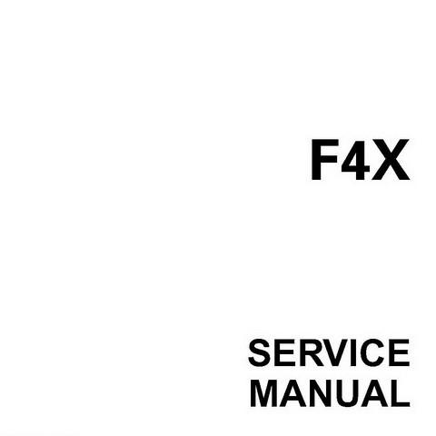 Yamaha Marine F4X Outboards Repair Service Manual