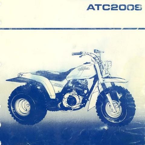 Honda ATC200S Repair Service Shop Manual 1984-1986