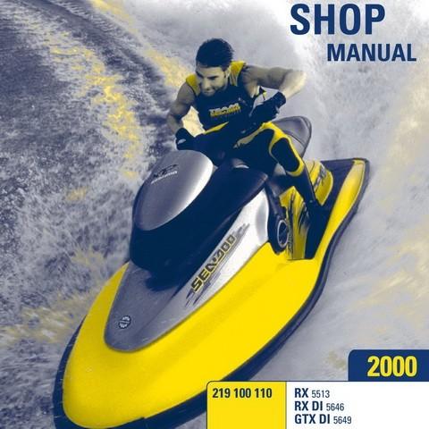Sea-Doo RX/RX DI/GTX DI Models PWC Service Repair Shop Manual 2000