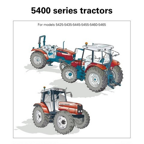 Massey Ferguson 5400 Series Tractors Operator Instruction Book Manual