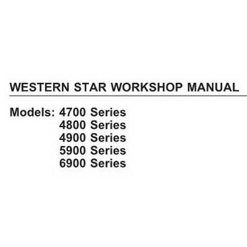Western Star Trucks Workshop Service Repair Manual