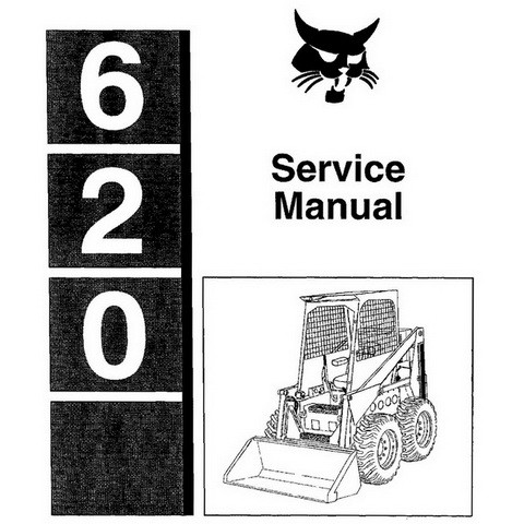 Bobcat 620 Skid-Steer Loader Repair Service Manual - 6549846