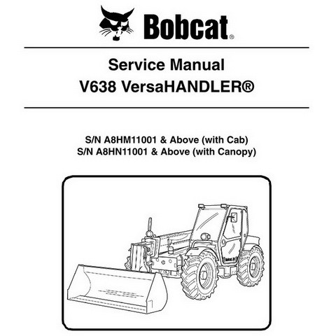 Bobcat V638 VersaHANDLER Workshop Repair Service Manual - 6986763