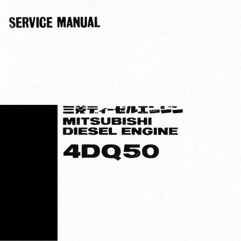 Mitsubishi 4DQ50 Diesel Engine Workshop Repair Service Manual