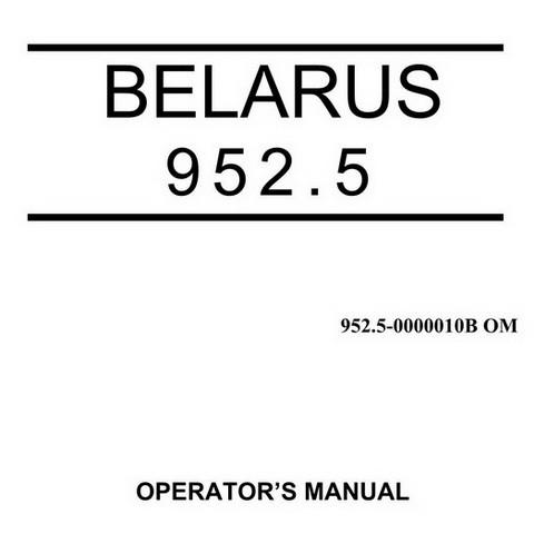 Belarus 952.5 Tractors Operator's Manual