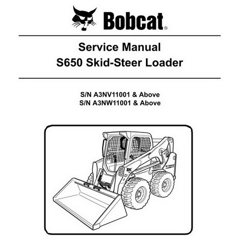 Bobcat S650 Skid-Steer Loader Repair Service Manual - 6987168