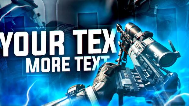 Infinite Warfare - Sniper Thumbnail Template (PSD)