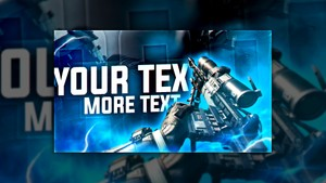 Infinite Warfare - Sniper Thumbnail Template (PSD)