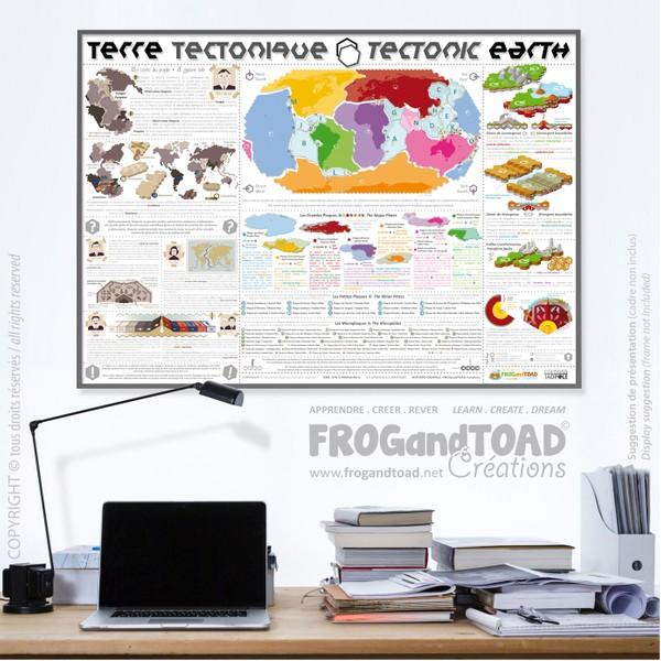 TERRE TECTONIQUE / TECTONIC EARTH - Français - Anglais / French - English - FROGandTOAD Créations ©