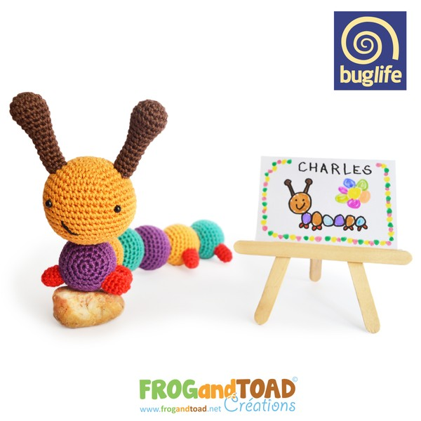 CHARLES - la Chenille / the Caterpillar - BUGLIFE - FROGandTOAD Créations ©