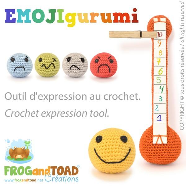 EMOJIgurumi - Amigurumi Crochet - Outil d'expression / Expression Tool - FROGandTOAD Créations ©