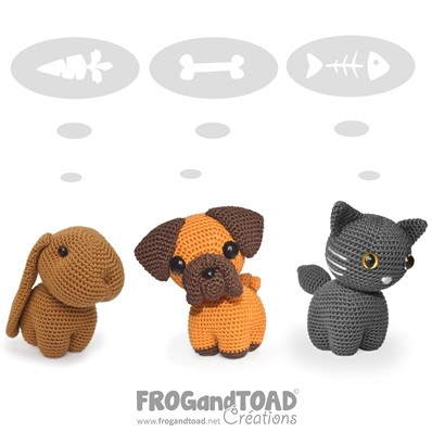 Animaux de Compagnie / Pets - COLLECTION - PDF - Amigurumi Crochet - FROGandTOAD Créations