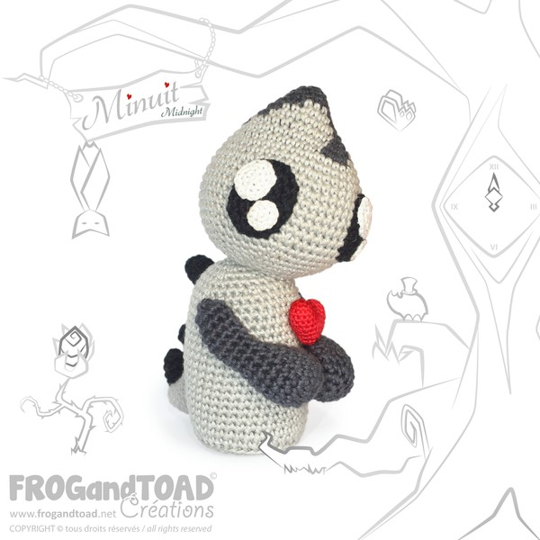 Minuit Monstre / Midnight Monster - Amigurumi Crochet - FROGandTOAD Créations  ©
