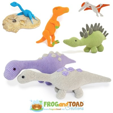 DINO COLLECTION - PDF - Amigurumi Crochet - FROGandTOAD Créations
