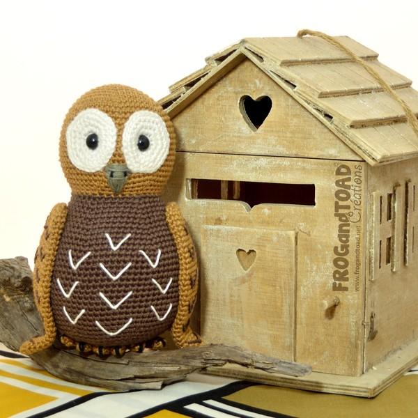 TAWNY la Chouette / the Owl - Amigurumi Crochet - FROGandTOAD Créations