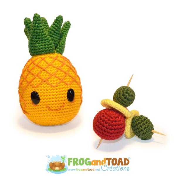 Ananas / Pineapple - Party Fruit - Amigurumi Crochet - FROGandTOAD Créations