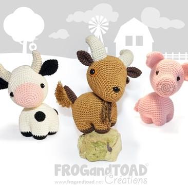 Animaux de la Ferme / Farmyard Animals - Amigurumi Crochet - FROGandTOAD Créations