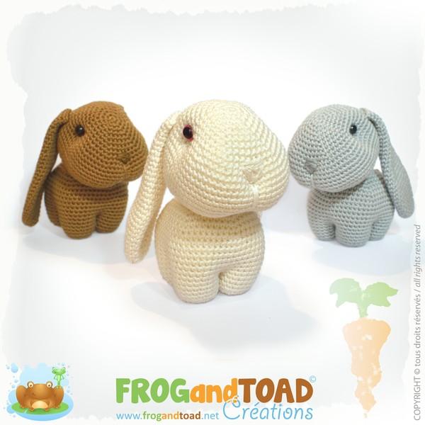 Lapin / Rabbit / Coniglio / Haschen - Amigurumi Crochet - PDF - FROGandTOAD Créations ©
