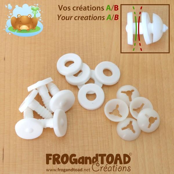 5 x 20mm - Joints de Sécurité Plastique / Plastic Safety Joints - FROGandTOAD Créations ©