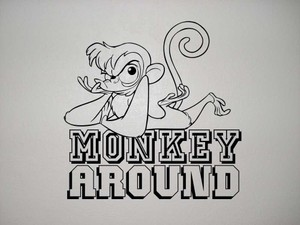 monkey around vector wall art image