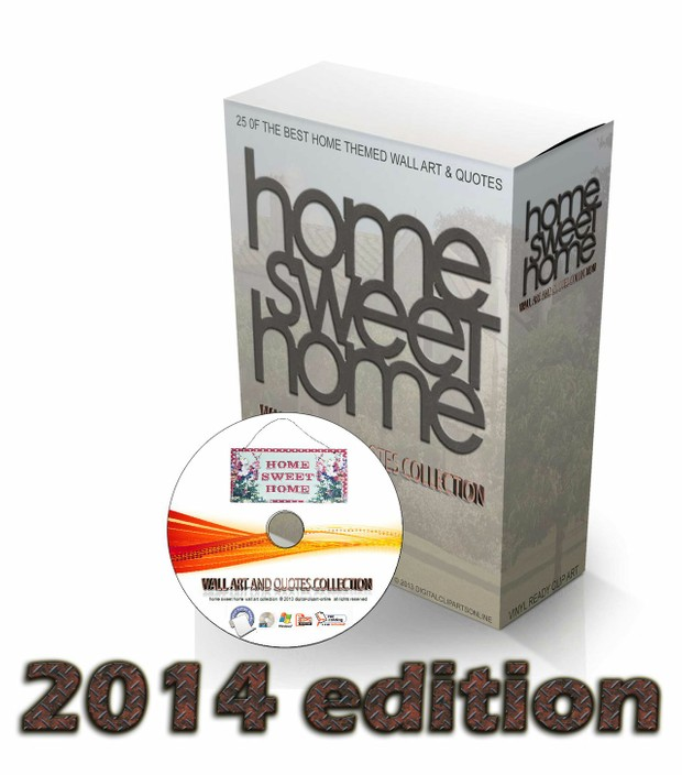 home sweet home 2014 wall art & quote vector collection